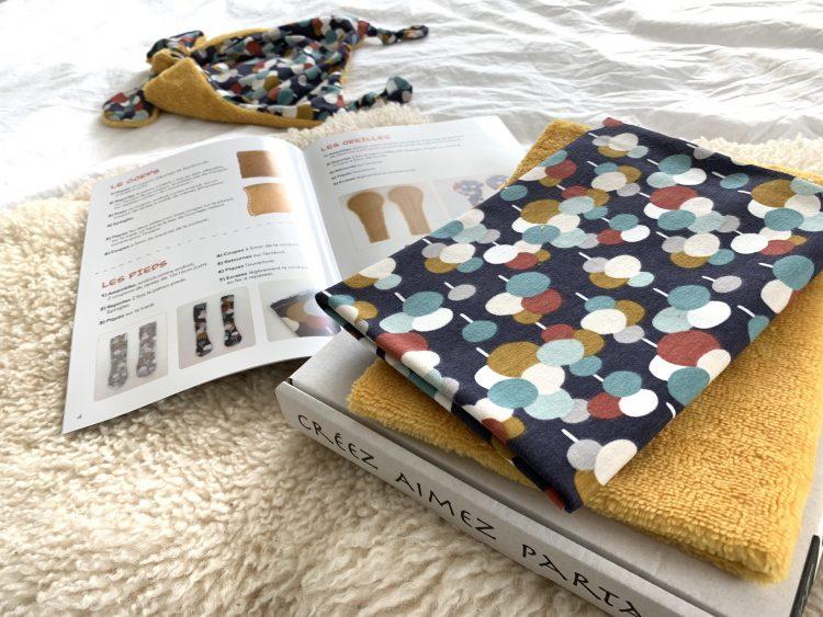 kit de couture tissu oeko tex doudou bebe