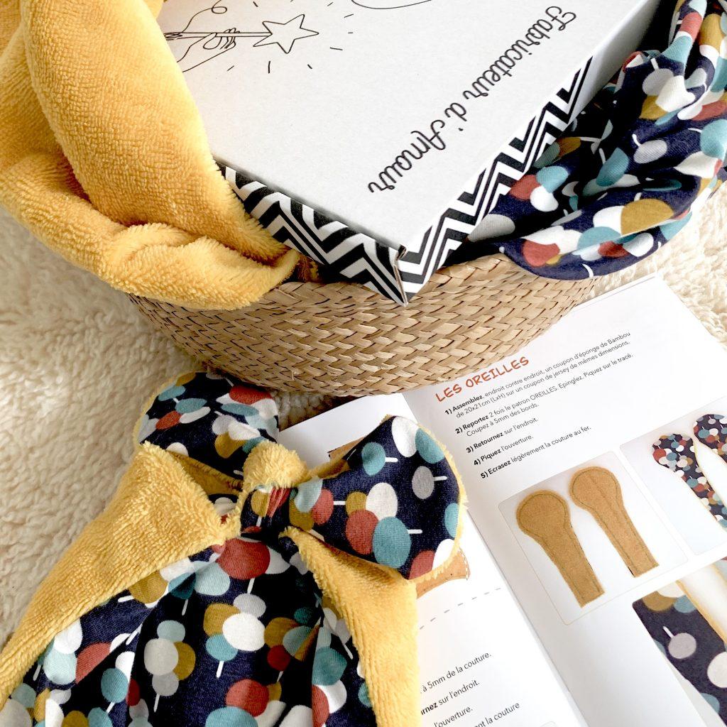 kit couture doudou coco bébé prénom